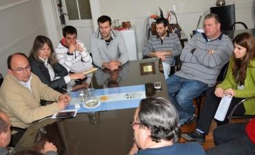 Intendente y autoridades del Club Ciudad se reunieron en el Palacio Municipal