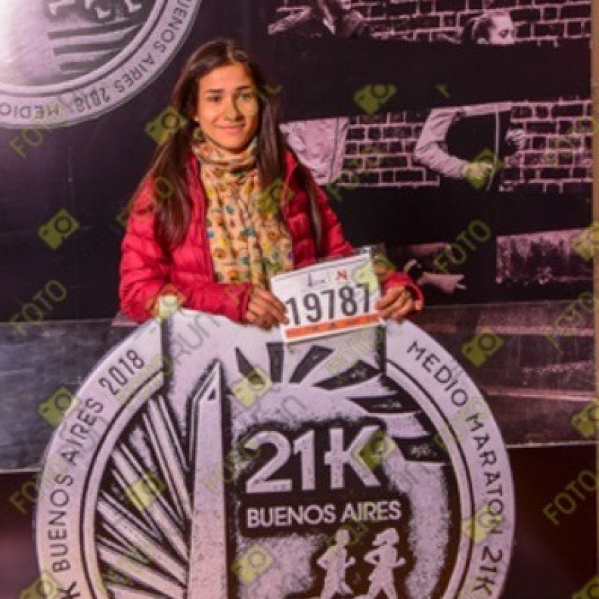 Francisca Almirón corrió la 30 Edición de los 21K de Buenos Aires