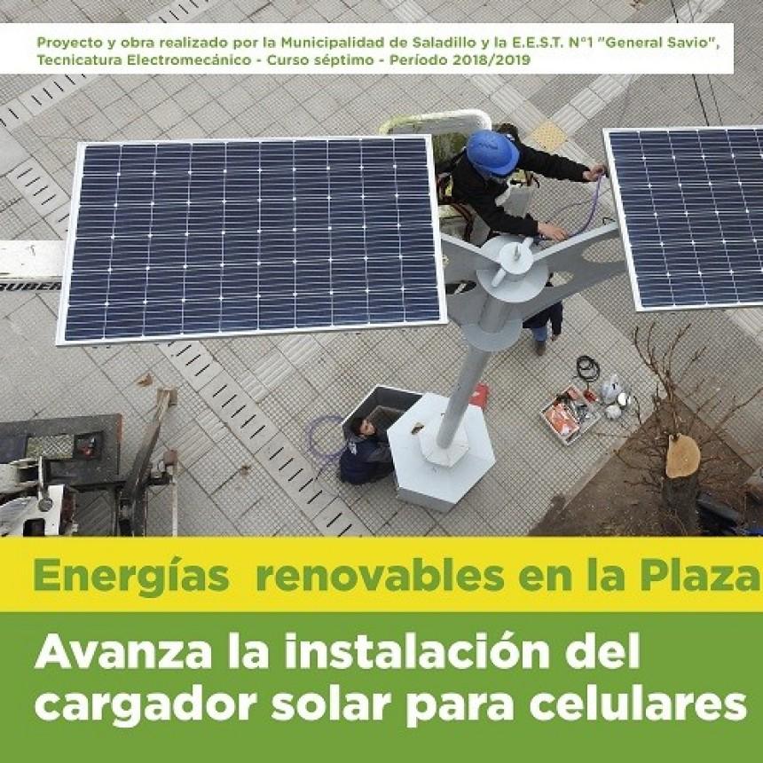 Avanza la instalación del cargador solar para celulares