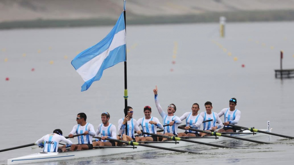 El equipo masculino de ocho remos aportó el 23er oro para la Argentina