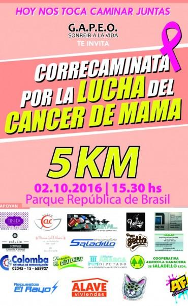"""Se realizará el 2 de octubre la """"Correcaminata por la Lucha Contra el Cáncer de Mama"""""""