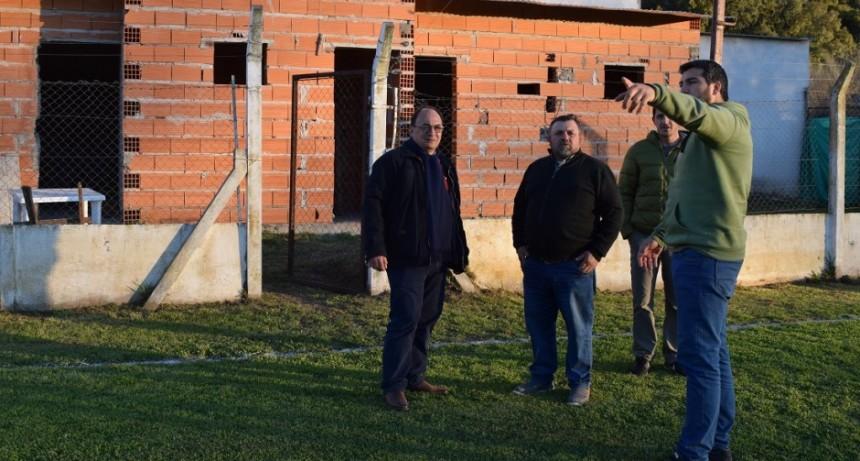 José Luis Salomón realizó un recorrido por las instalaciones del Club Cazón
