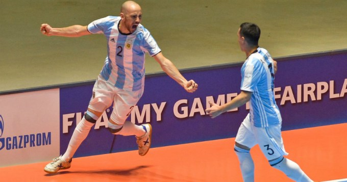 Argentina campeon mundial en el Futsal. Le ganó a Rusia 5/4