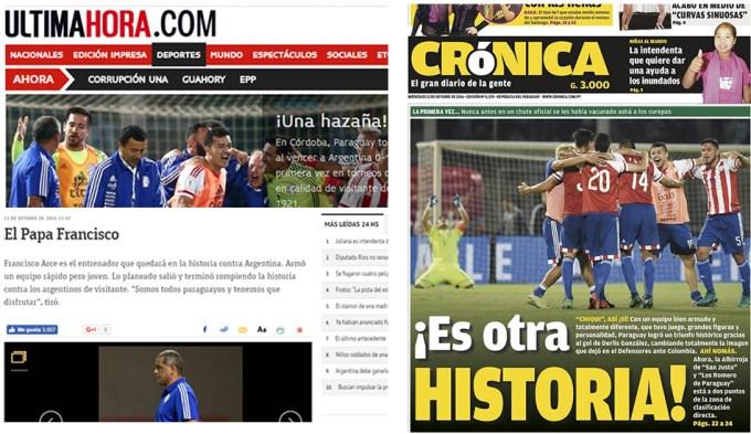 La prensa guaraní habla de una hazaña