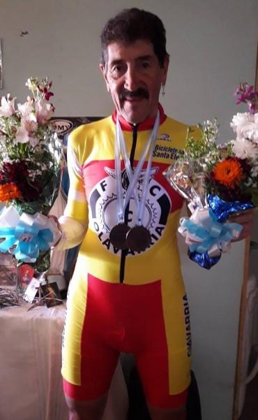 Dos medallas para Miguel A. Lubo en el Panamericano de Ruta máster