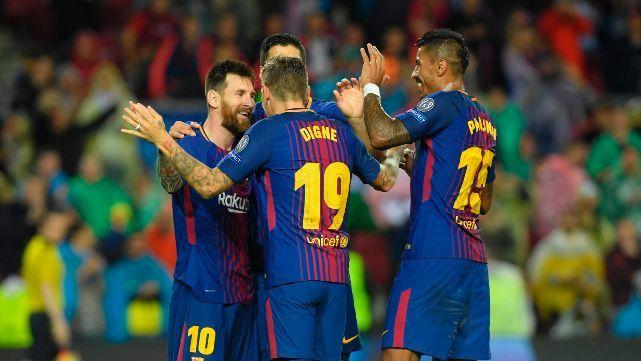 Con gol de Messi, el Barça ganó por la Champions