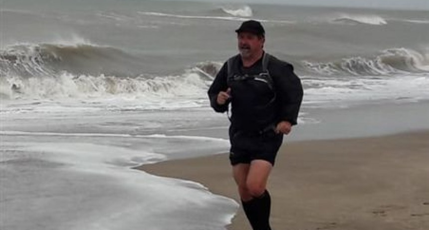 Julio Saizar participó de la Atlántica Ultra maratón