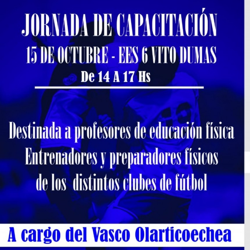 Atención Profesores de Educación Física / Preparadores Físicos y Entrenadores de distintos clubes de fútbol