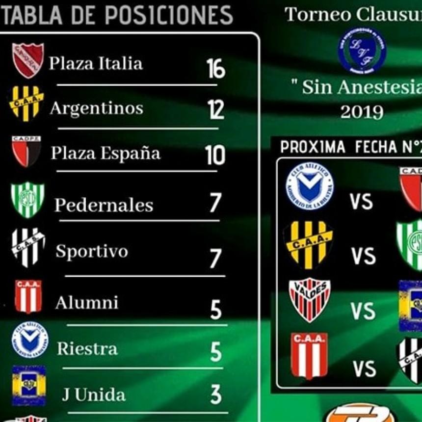 Plaza Italia es el líder en el Torneo de la Liga de 25 de Mayo