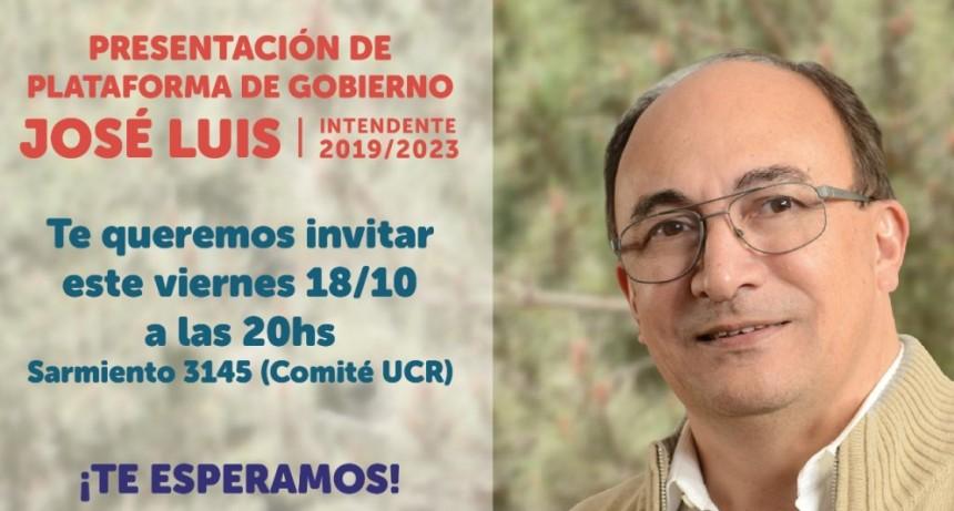 Presentación de la Plataforma de José Luis Salomón (2019/2023)