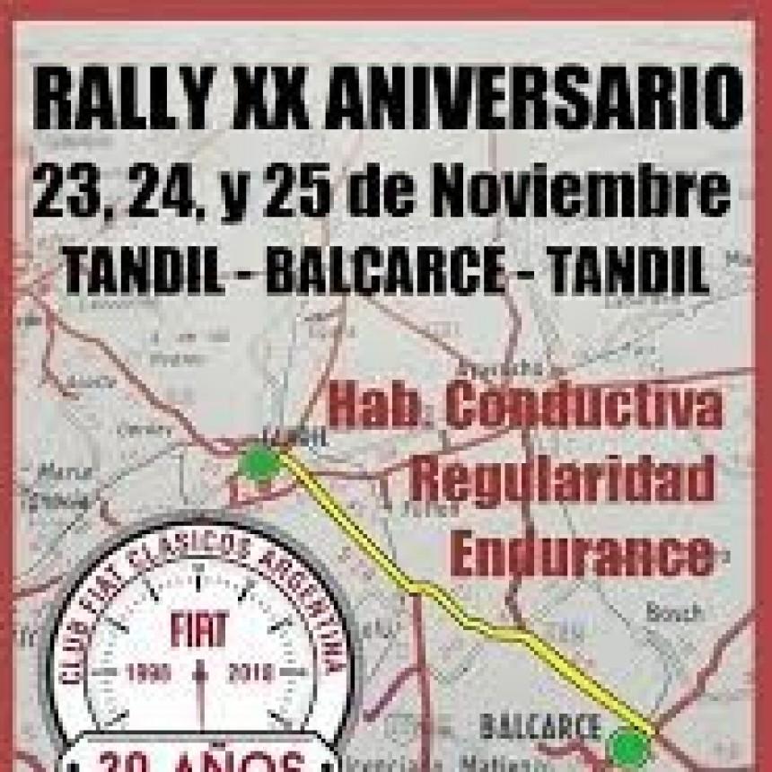 Se corre el Rally Aniversario del club Fiat Argentina en Tandil