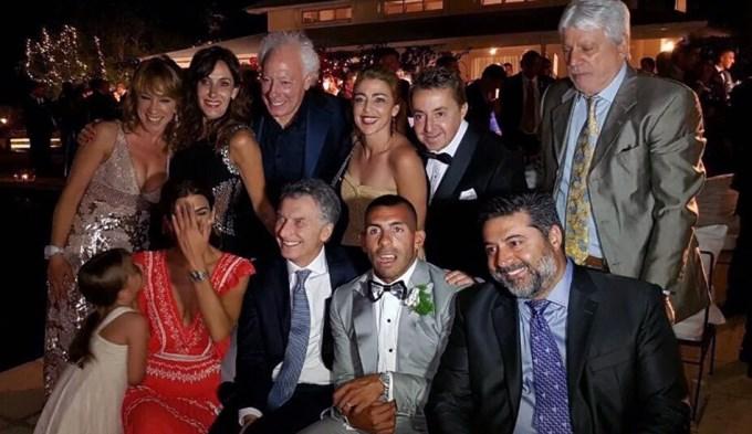 ¿Qué hizo Macri en el casamiento de Carlos Tevez?