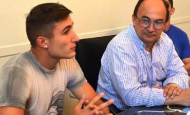Salomón recibió a Nahuel Tenaglia, jugador de Talleres