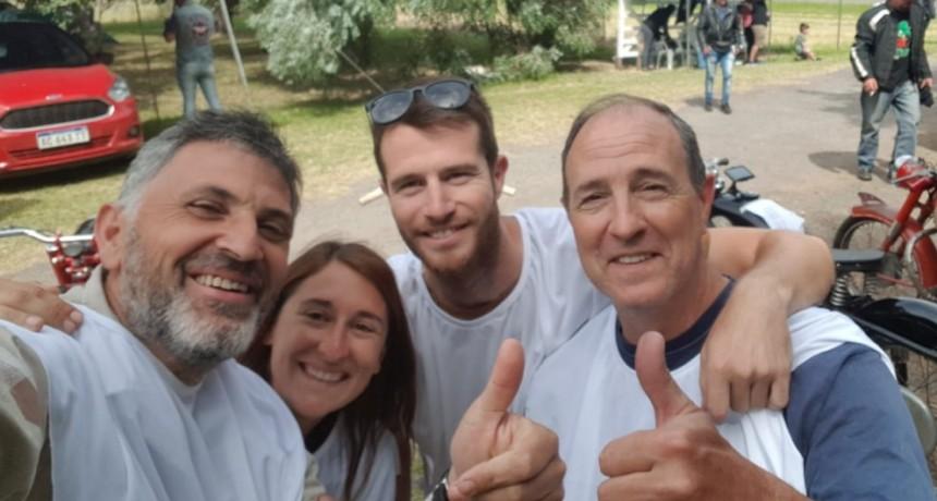 Saladillenses corrieron en el 8° Rally Nacional de Motos Clásicas en Azul