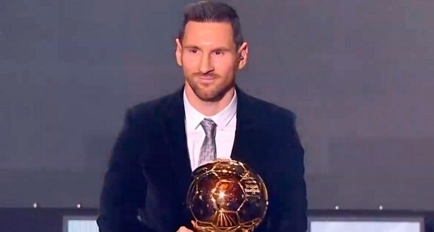 Messi recibió su sexto premio y es el más ganador de la historia